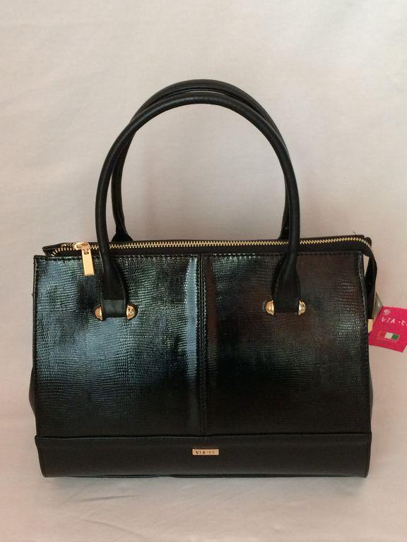 Via55 fekete rostbőr női táska 6fb2a51eb9