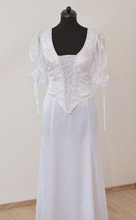 Fehér színű zsinórozott menyasszonyi ruha 842652f1e5