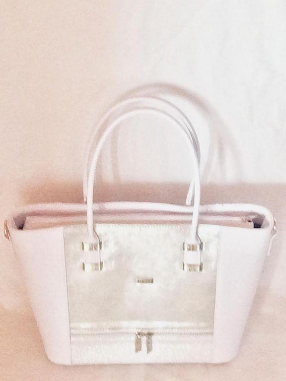 Via55 fehér-ezüst rostbőr női táska 6a0d4d6d1d