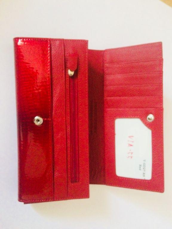 Női pénztárca Via55 piros lakk bőr 8135aae8ac