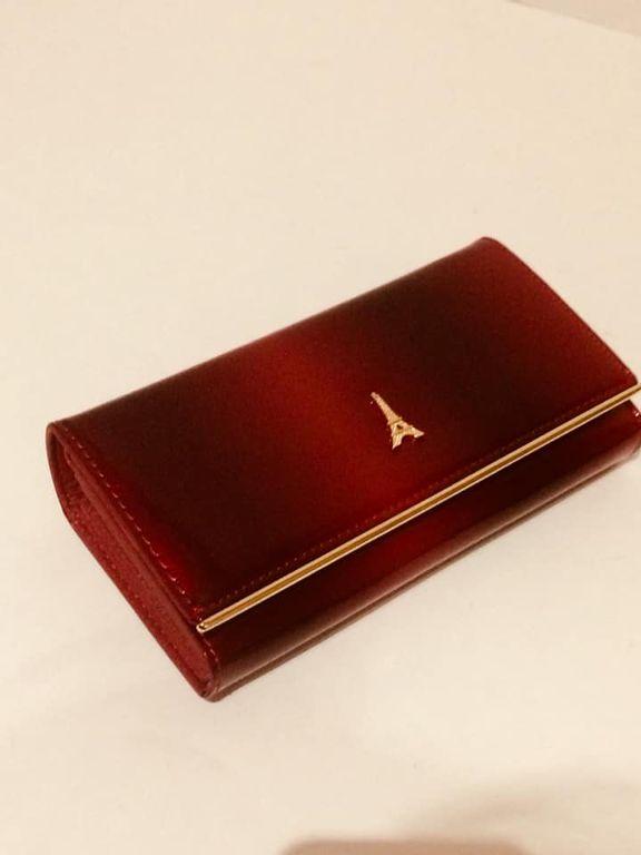 Női pénztárca Loren piros lakk bőr 62596db872
